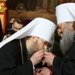 Братия Лавры поздравили священноначалие со Светлой Пасхой