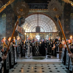 The divine services with the Procession and Burial of the Shroud of Our Savior performed in the Lavra