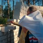Митрополит Павел заложил капсулу в основание строящегося храма