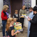 Aid to children in Kiev distict from Lavra's Welfare Department