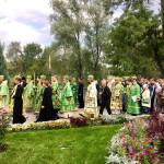 Наместник Лавры сослужил Предстоятелю в г. Святогорске