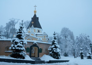 Winter view of the Lavra