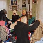Братия соцотдела привезли необходимые вещи нуждающимся в Макаровский район Киевской области