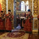 В Лавре состоялось поздравление Предстоятеля УПЦ клириками Киевской епархии