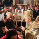 The Primate of the Ukrainian Orthodox Church performed services at Easter night