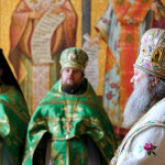 Митрополит Павел совершил Литургию в день отдания Пятидесятницы
