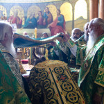 UOC Primate took the lead of the Liturgy in the Lavra's Great Church on the day of his heavenly protector