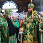 Всенощное бдение накануне дня памяти прп.Агапита возглавил митрополит Павел