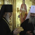 Митрополит Павел принял поздравления от братии Лавры и гостей с днем ангела