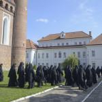 Братія на конференції в Супрасльській лаврі
