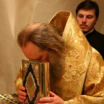 The vicegerent of Lavra led night Liturgy in Far caves