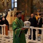Епископ Андрей совершил в Лавре первую Литургию в архиерейском сане