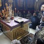 Предстоятель возглавил первую в этом году Литургию Преждеосвященных Даров
