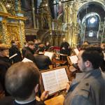 Вечером праздника Благовещения Наместник возглавил Акафист Страстям Христовым