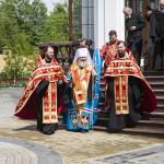 Владыка Павел освятил поклонный крест в лаврском скиту