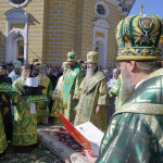 On the jubilee of His Beatitude the Divine services were led by Metropolitan Onuphrius