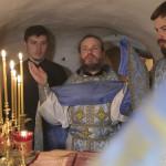 В день памяти свт. Луки Наместник молился в пещерах
