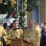 The prayer service on St. Vladimir's Hill led by Metropolitan Onuphrius