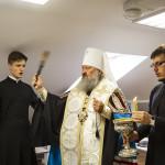 Наместник освятил помещения иконописной мастерской Лавры