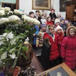 Учні іконописної школи привітали намісника з Різдвом