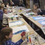 Занятие Детской художественной школы при Лавре посвятили зиме