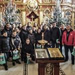 В Лаврі помолилися спортсмени на чолі з Олександром Усиком