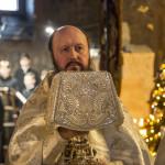 Священноархимандрит Лавры возглавил Литургию в Крещенский сочельник