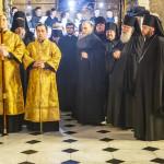 Священноархимандрит Лавры совершил вечерню с Чином прощения