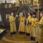 Предстоятель УПЦ совершил воскресную Литургию в Лавре