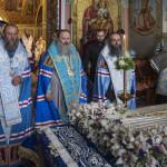 В канун праздника Успения был совершен соборно акафист
