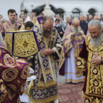 Services held in the Lavra on the feast of the Exaltation of the Lord's Cross