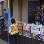 Братия соцотдела передали продукты питания в центр психологической реабилитации детей