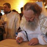 Наместник Лавры освятил храм в селе Долгошии