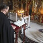 Наместник Лавры совершил Литургию Преждеосвященных Даров