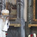 В Лазареву суботу Намісник Лаври очолив богослужіння в Трапезному храмі