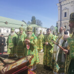 The Holy Archimandrite of the Monastery led the celebrations in the Lavra