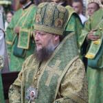 В День Святого Духа возносились молитвы о новопреставленном митрополите Митрофане